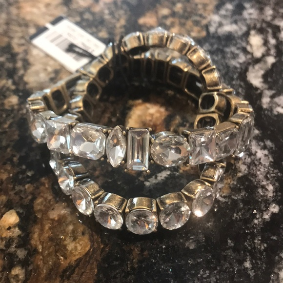 Bloomingdale's Jewelry - Bloomingdales stretch rhinestone bracelets